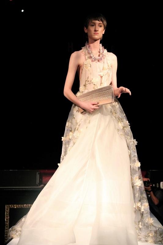3 d flower dress / gown