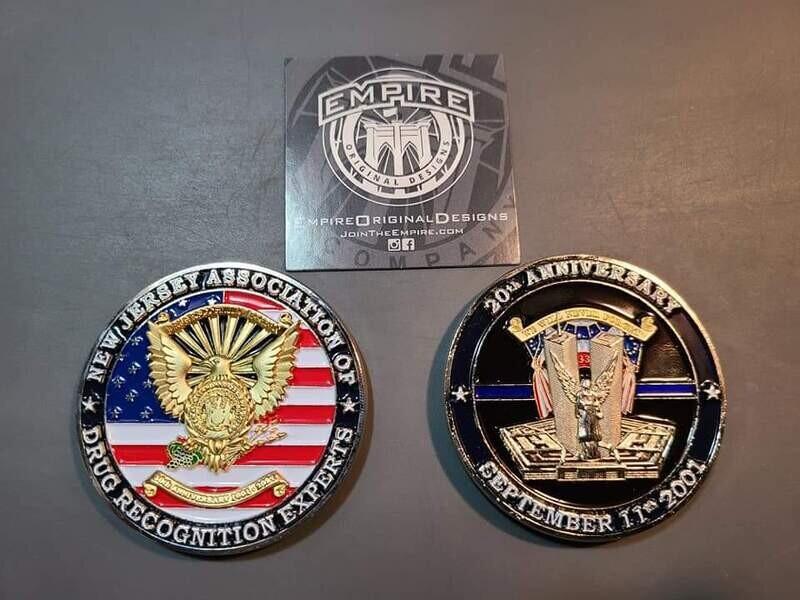 20th Anniversary NJ DRE Challenge Coins.