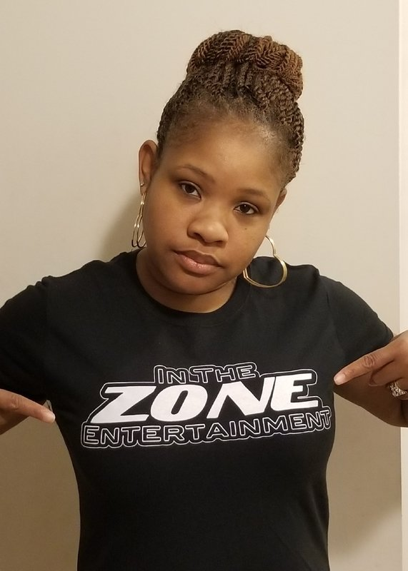 In the Zone Tees, Women's sizes M,L,XL Black and Gray