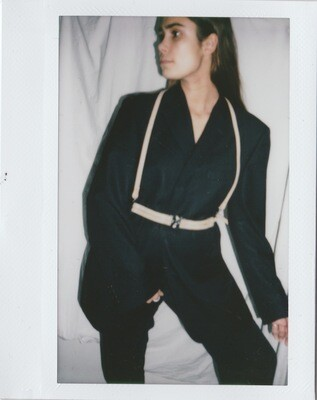 MAERA | Thin shoulder harness double front Nude