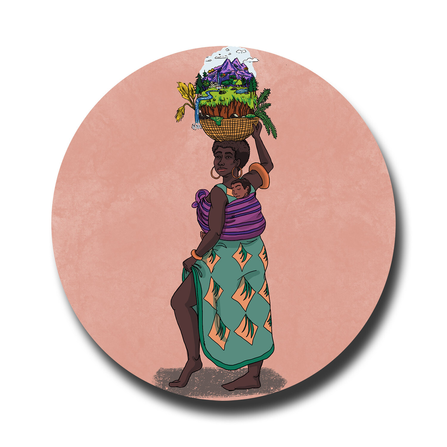 Black Mother of the Earth recycled sticker