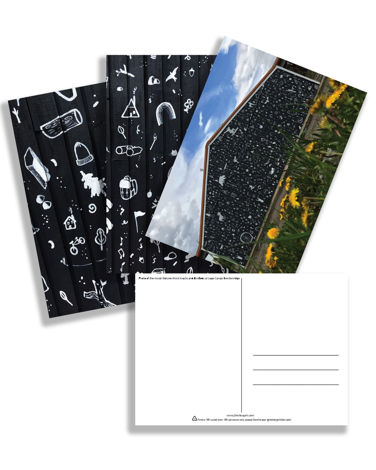 Natures Knick Knack and BimBobs- Postcard 3pack