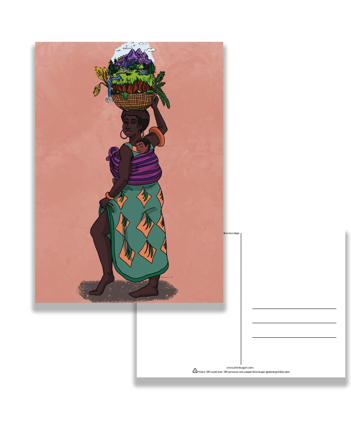 Black Mother of the Earth Postcard