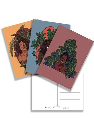 Black Girl Joy postcard set of 3