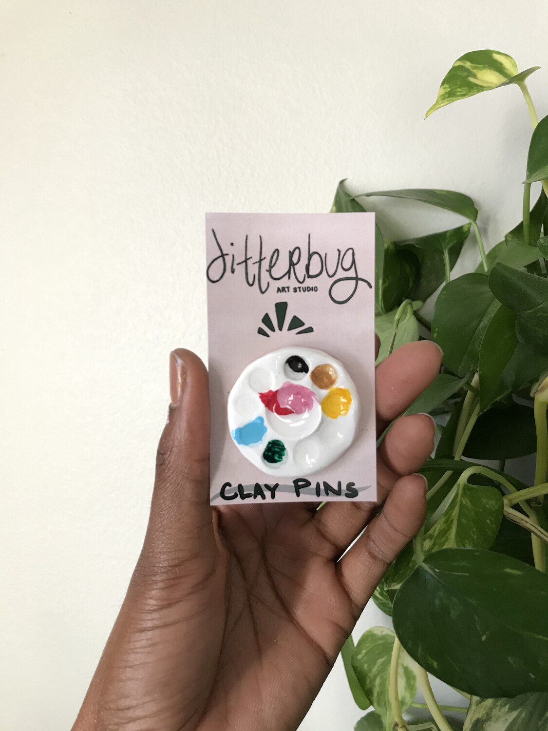 Watercolor Palette Clay Pin