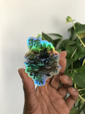 Magic Pinecone Planter Holo sticker