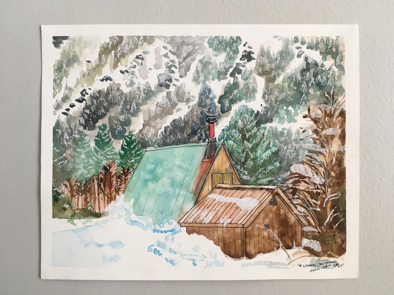 Snowy A-frame