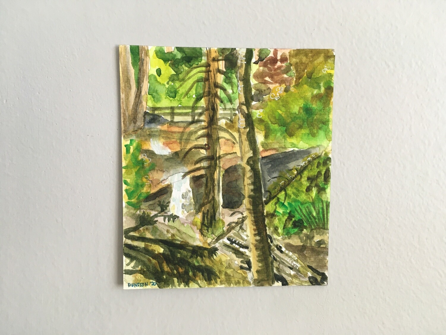 In the woods -original painting