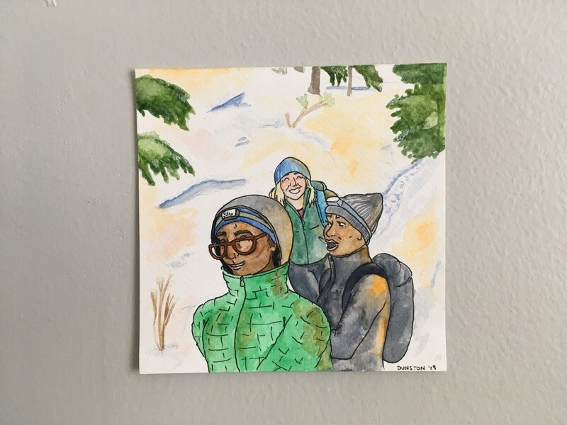 Winter hike with friends