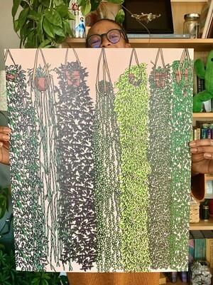 Hanging Plants Print