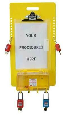 PCB-1 - Procedure Holder Board with Group Lock Box - 16 padlocks *IMPROVED* PCB-1
