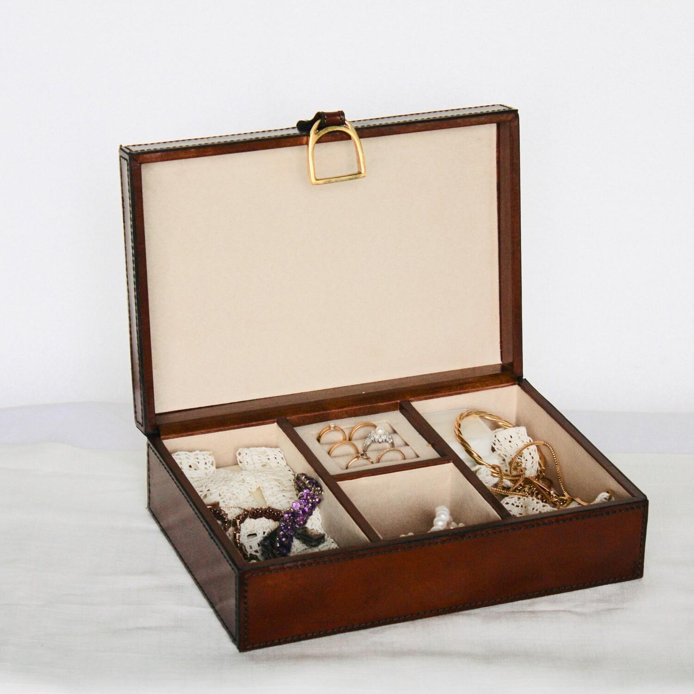 Brunt smyckesskrin/Brown jewlery box