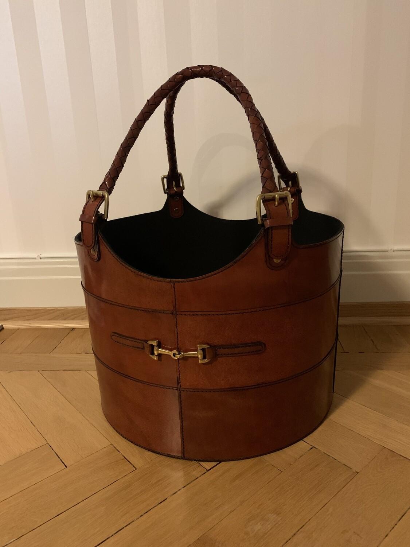 Rund korg brun/Round basket brown