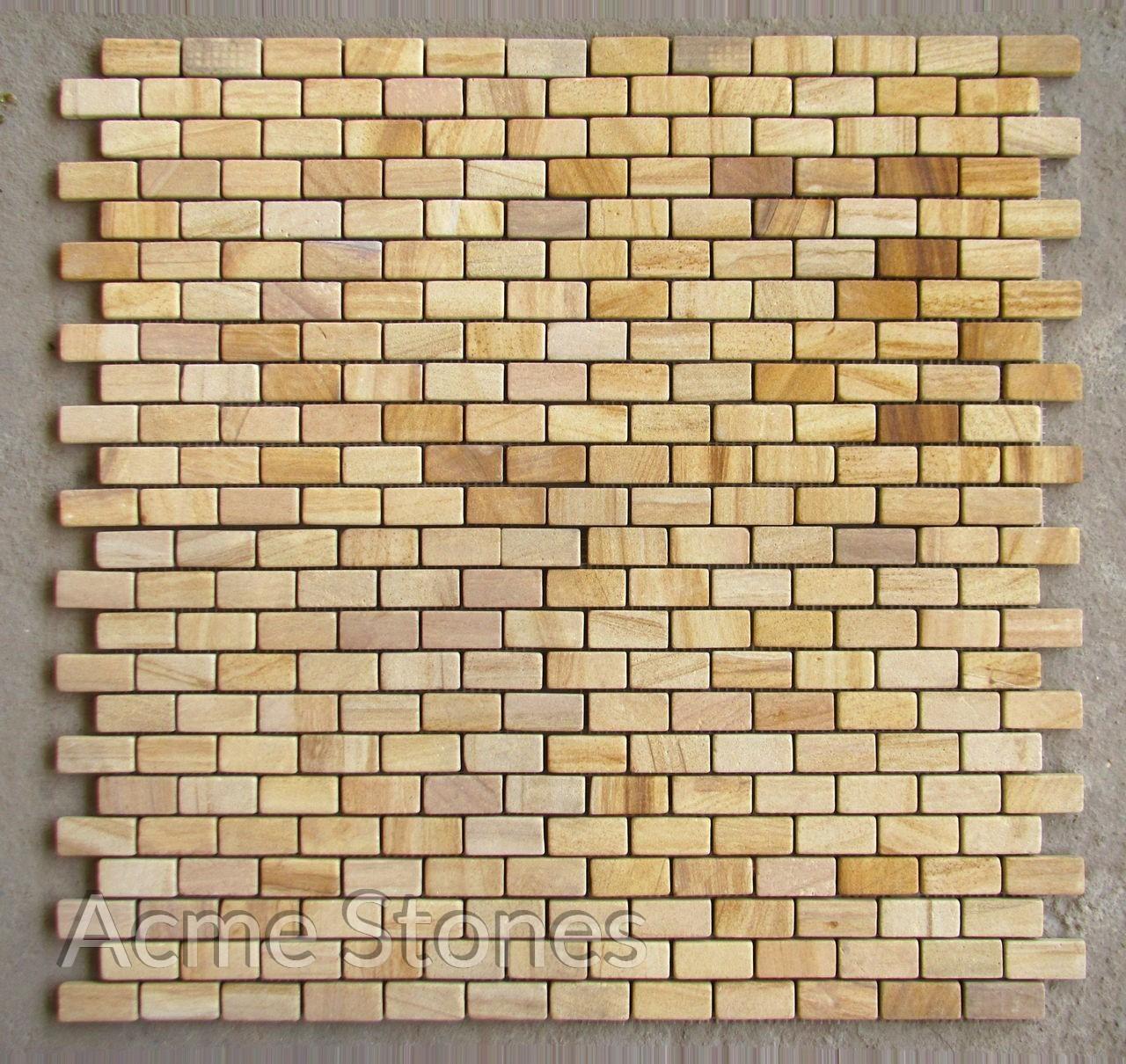 Brick Pattern Teak Sandstone Tumbled