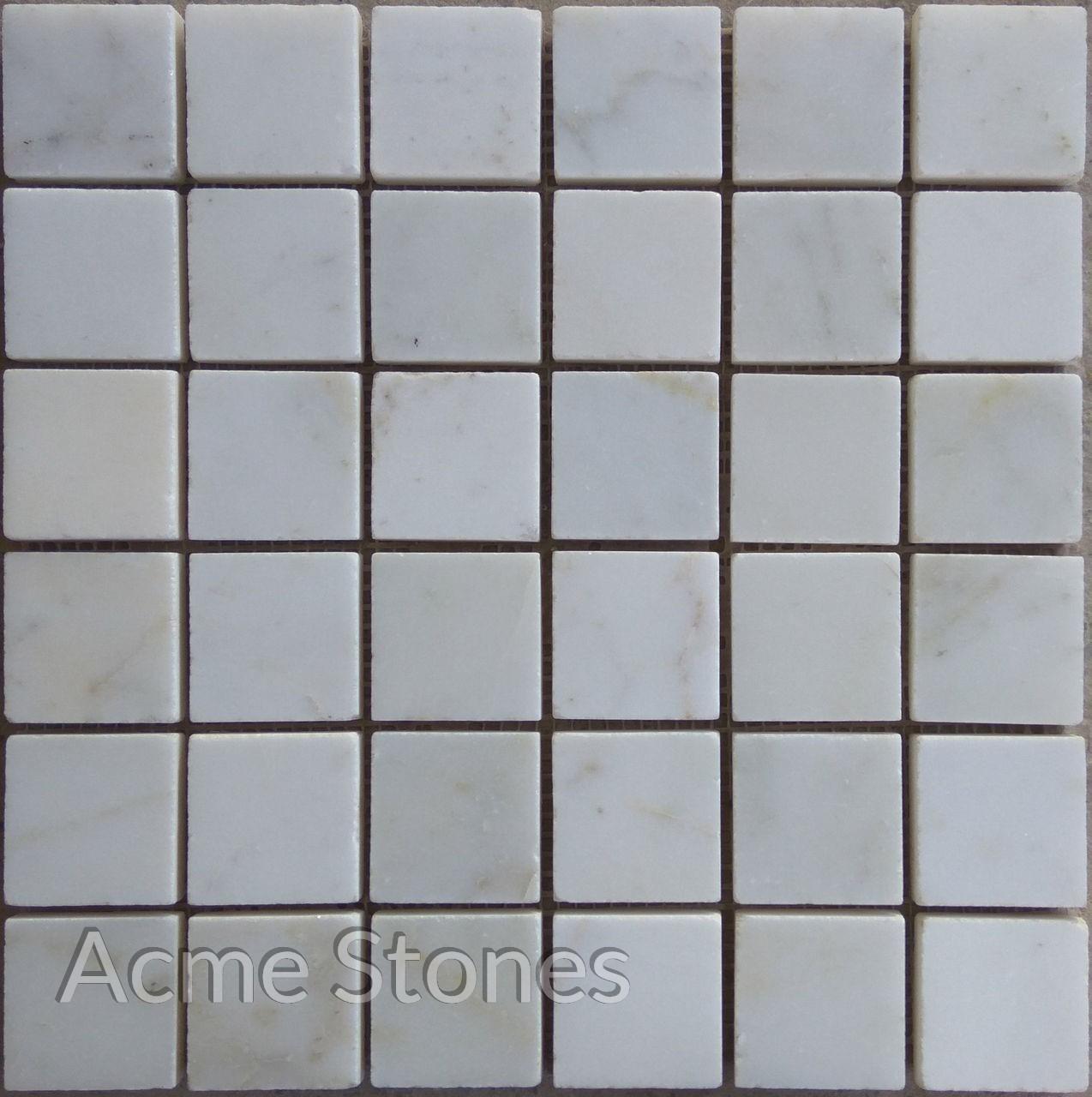 Regular Mosaic White Marble Polished 47x47mm