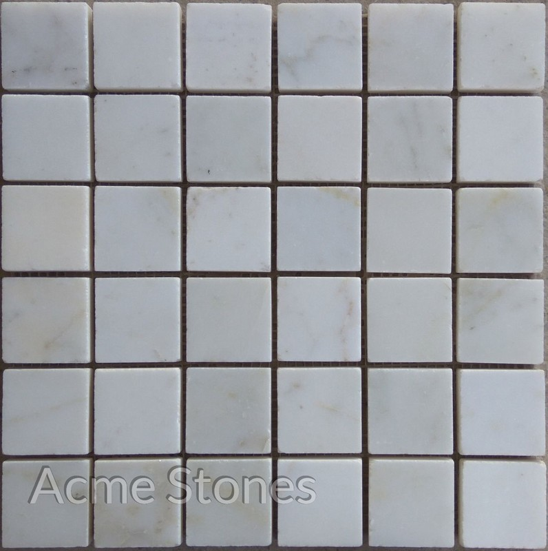 Regular Mosaic White Marble Polished 47x47mm