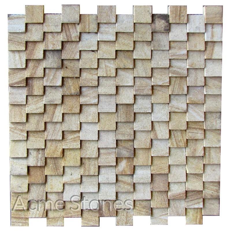 Brick Pattern Teak Taper 25x25 mm