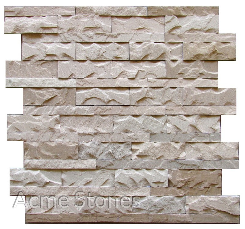 Stacking Dholpur Biege Split Chiselled 2in1in