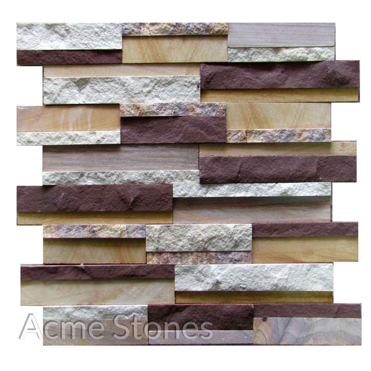 Stacking Mix Sandstone Sawn Split 2in1in