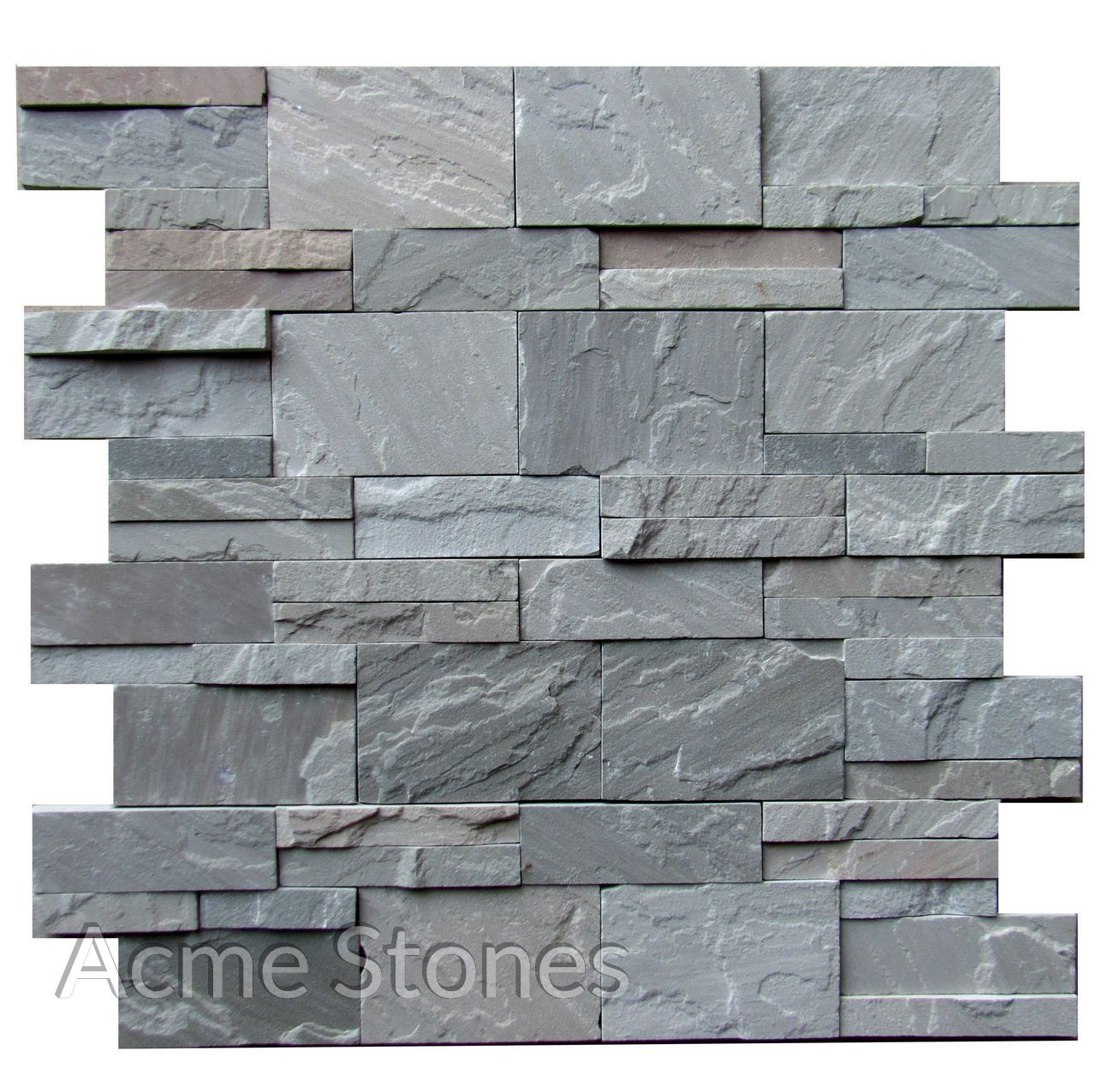Kandla Grey Natural Stacking 1234 inch