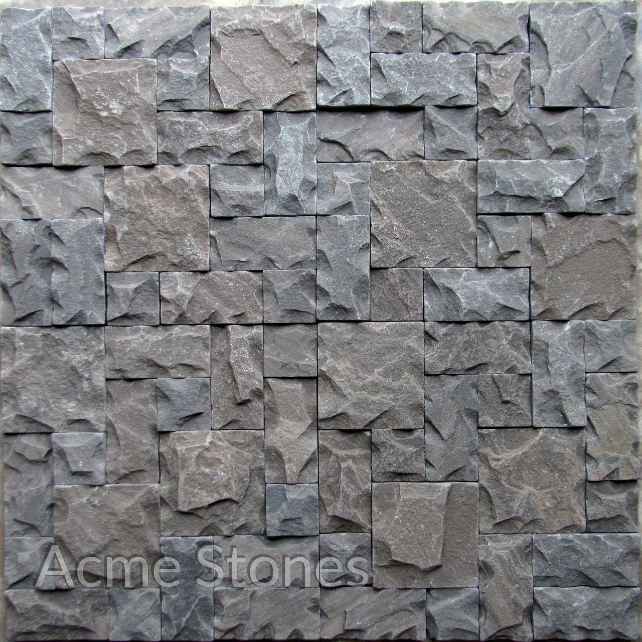 Set Pattern Sagar Black Natural Chiselled