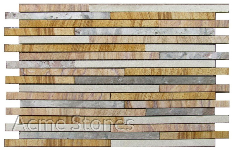 Line Pattern Mixed Stone 10mm