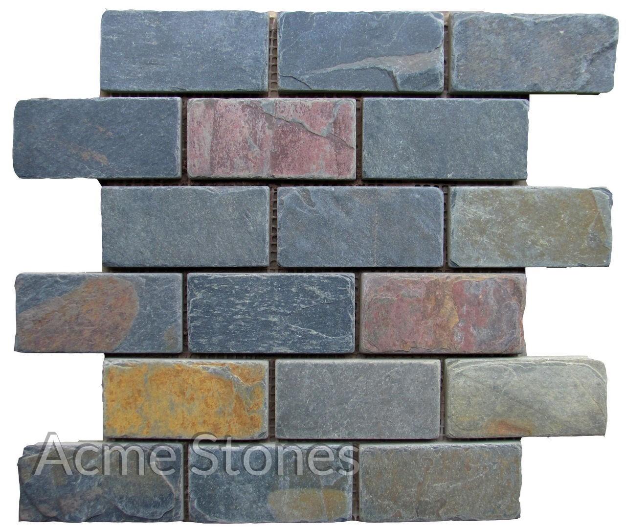 Brick Pattern Kund Multi 48x98 mm