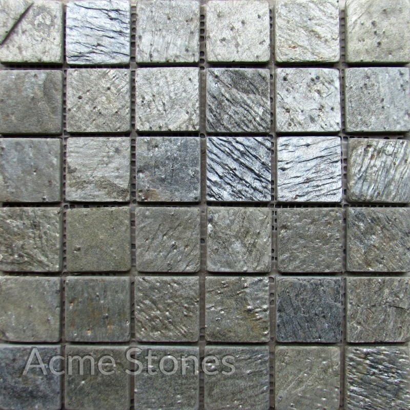 Regular Mosaic Deoli Green Tumbled 47x47mm