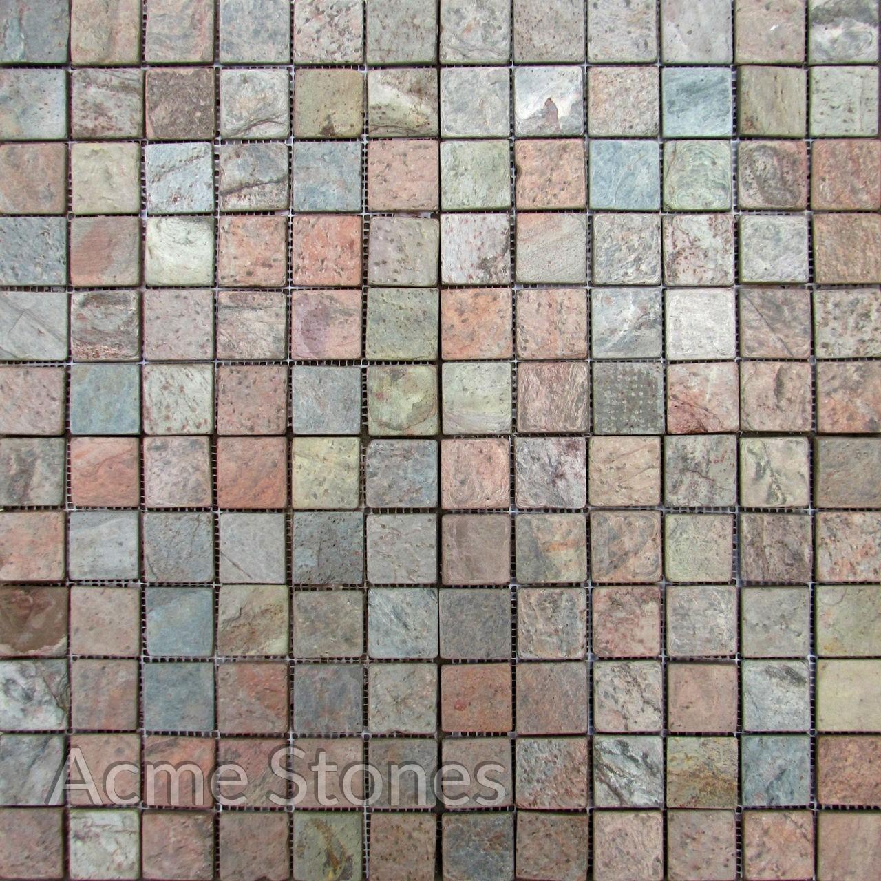 Regular Mosaic Copper 23x23mm Tumbled