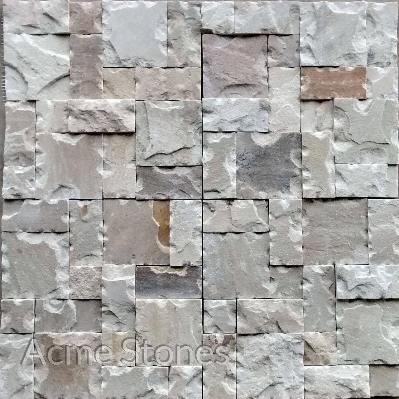 Set Pattern Mint Natural Chiselled