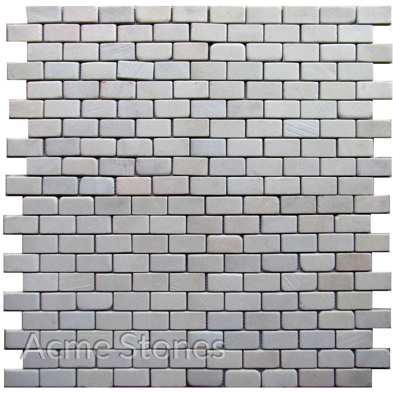 Brick Pattern Biege Sandstone Tumbled