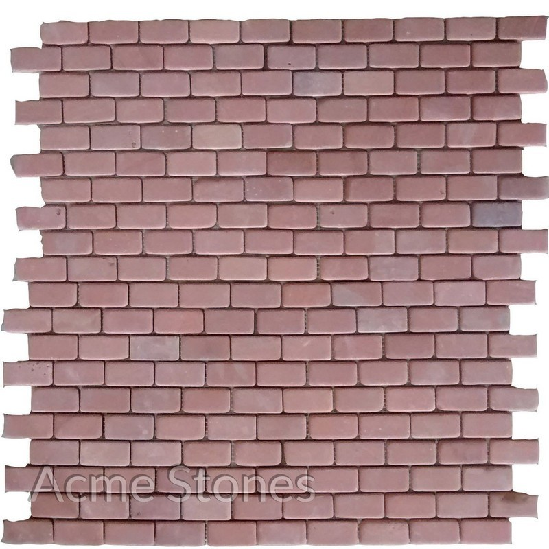 Brick Pattern Red Sandstone Tumbled
