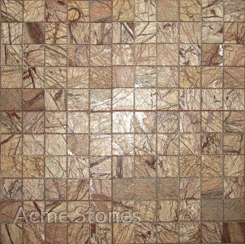 Regular Mosaic Rainforest Brown Antique 47x47mm