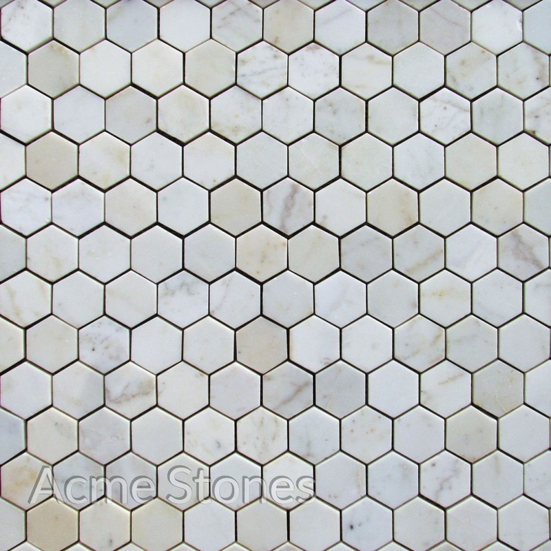 Hexagon White Marble Polished