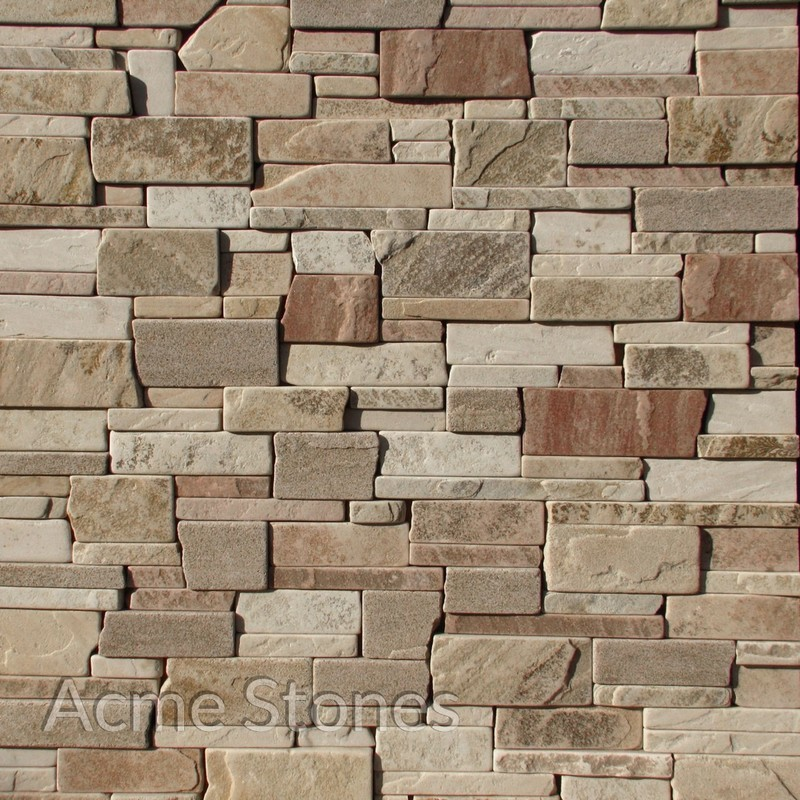 Stacking Mint Natural Hand Broken Edges 1234 inch