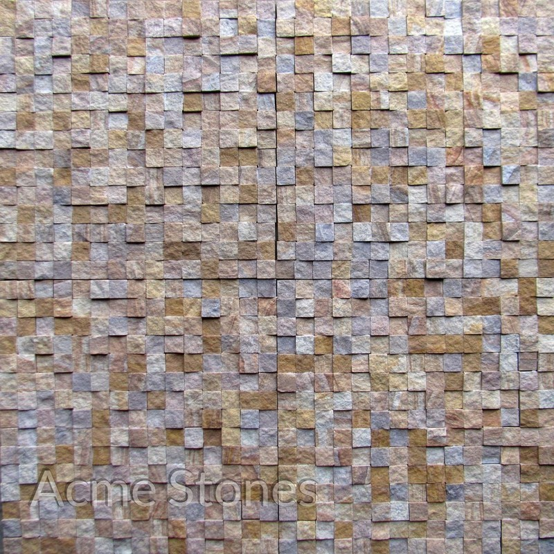 Regular Mosaic Teak Rainbow Split Face