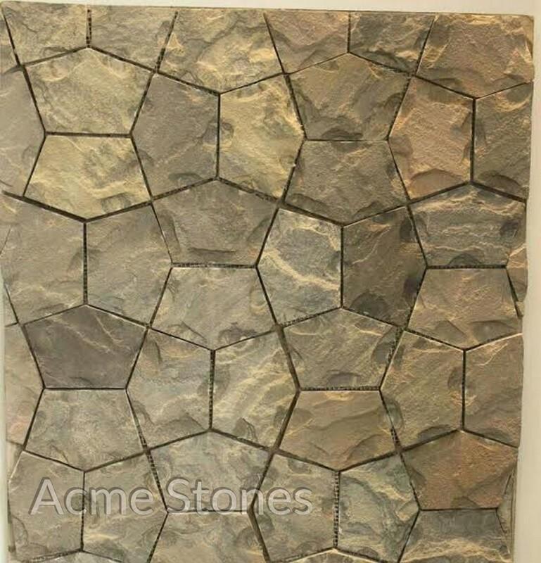 Flag Stone Sagar Black Chiselled