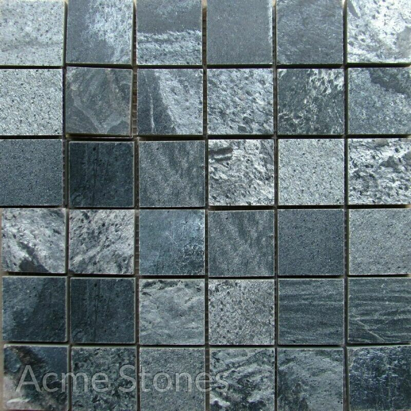 Regular Mosaic Silver Grey Polished 47x47mm