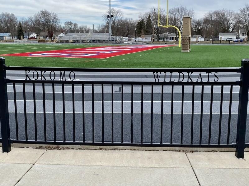 Curved Football/Track Stadium Fencing