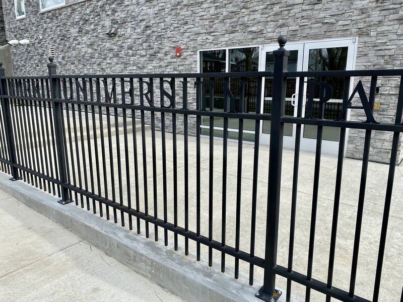 Flat Steel Custom Fencing