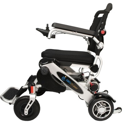 Geo Cruiser DX Lightweight Foldable Power Chair (Silver)