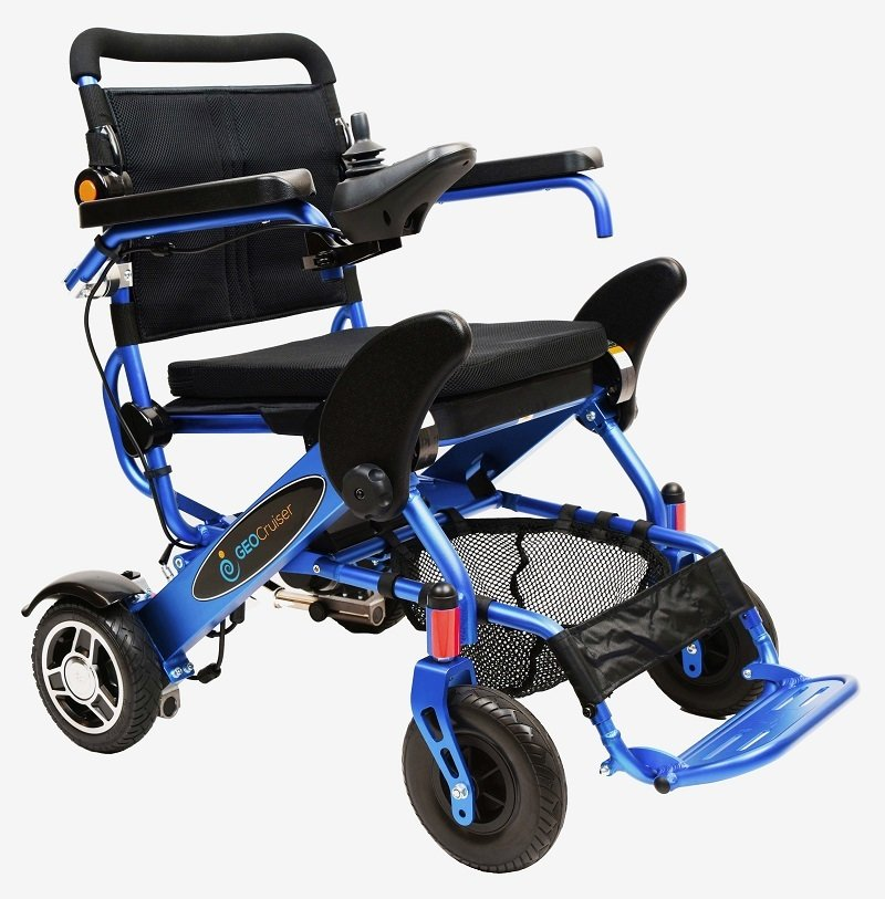 Geo Cruiser LX Lightweight Foldable Power Chair (Blue)