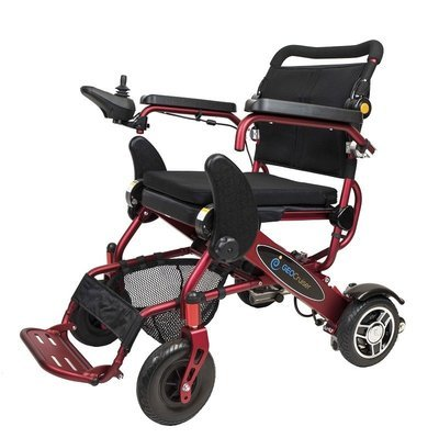 Geo Cruiser DX Lightweight Foldable Power Chair (Red)