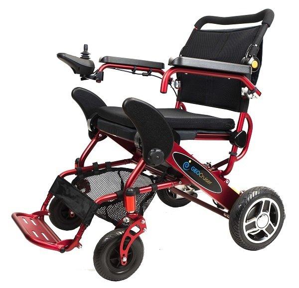 Geo Cruiser Elite EX  Lightweight Foldable Power Chair (RED)