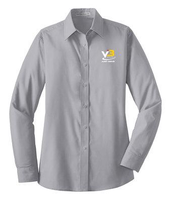 Port Authority® Ladies Long Sleeve Value Poplin Shirt LW100