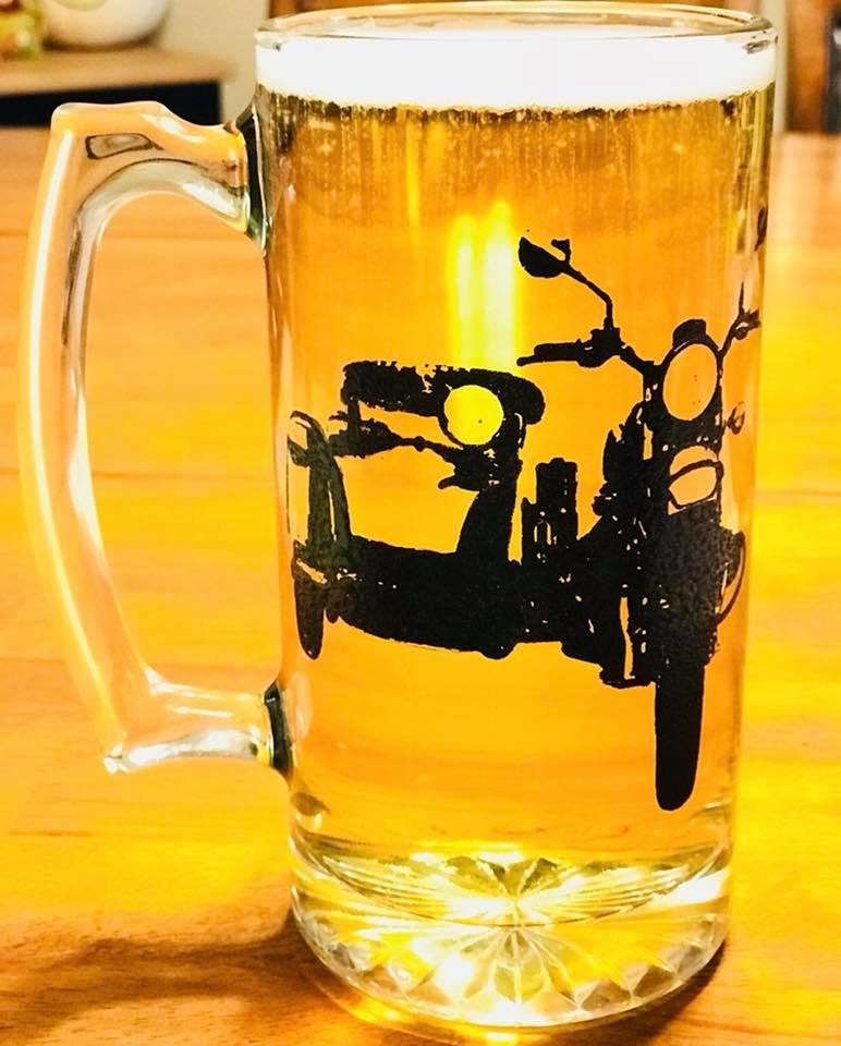Sidecar Beer Mug Cup (Hand Painted)