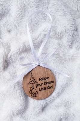 Customized Laser Wood Burned Ornaments - Baby Elephants Design - You pick the saying! Fantastic Gifts for Family, Baby Shower, New Mom