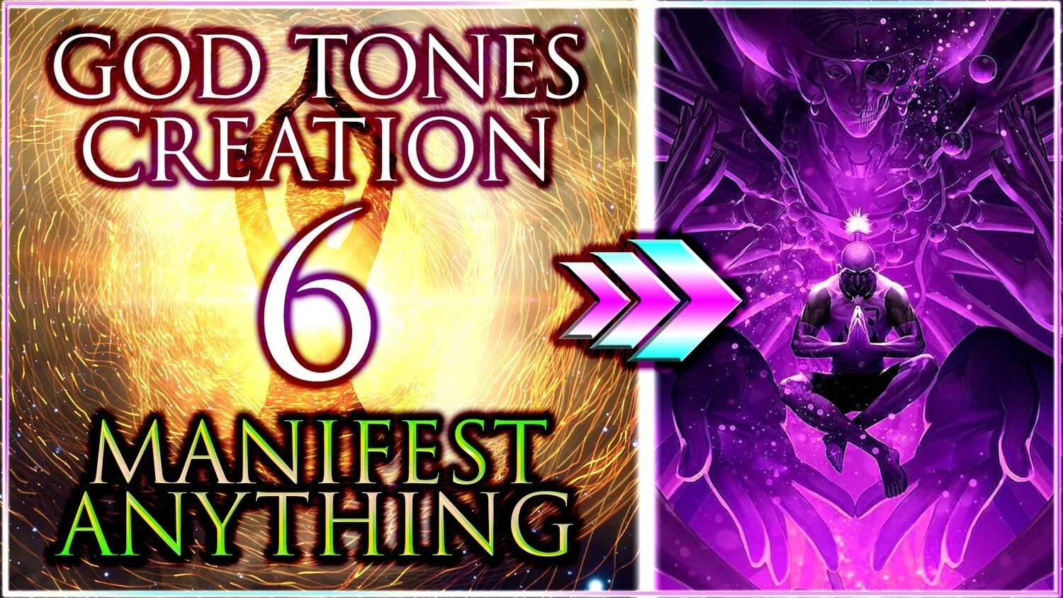 YOU CAN MANIFEST Anything You WANT ꩜ 6 GOD Solfeggio TONES of CREATION ❖ 430 65 Hz Miracle + Drums