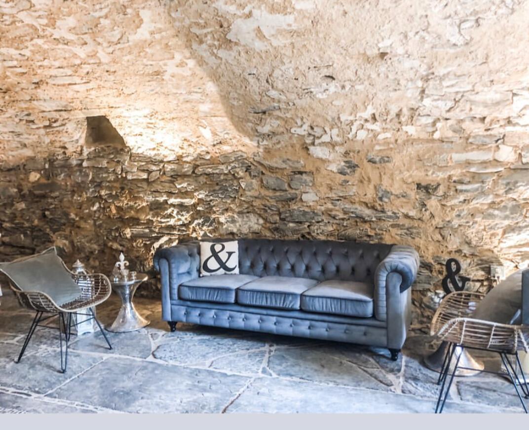 Picture of: Emory Blue Grey Velvet Sofa