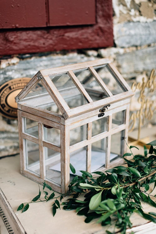Wooden Terrarium Card Box
